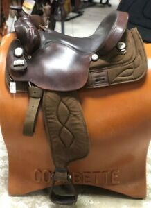 "Big Horn 16"" Brown Synthetic Gaited Saddle #257 Pre-Owned – Good Condition"