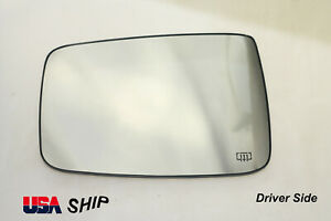 Driver Side Mirror Glass Heated W/Holder FOR DODGE RAM 1500 2500 09-18 USA SHIP