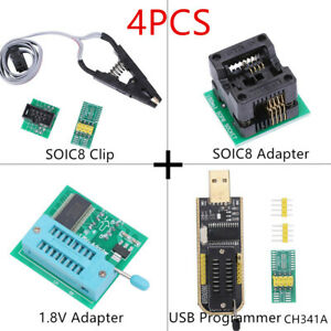 1.8V Adapter 2425 Series USB Programmer SOIC8 Clip EEPROM BIOS Writer CH341A