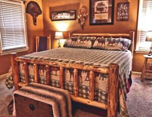 Rustic Log Bed MOST SOLD on Ebay NEW LOWER PRICE #1 Seller MOST SOLD $499.00