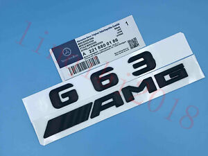 Matte black  G63  AMG  Letters Trunk Embl Badge Sticker for Mercedes Benz G63