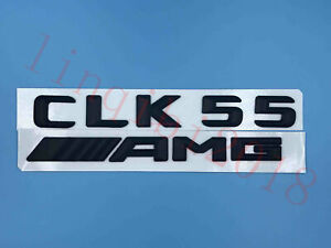 Matte black CLK55  AMG Letters Trunk Embl Badge Sticker for Mercedes Benz CLK