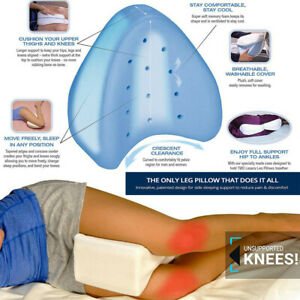 Contour Legacy Leg Memory Foam Pillow for Back Hip Legs Knee Support Wedge US