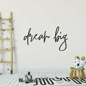 DREAM BIG  Quote Home Wall Art Decal Words Lettering Decor