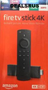 NEW Amazon Fire TV Stick 4K with Alexa Voice Remote Streaming Media 2018 - Black