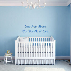 SENT FROM ABOVE BUNDLE OF LOVE Kids Wall Art Decal Quote Words Lettering Decor $9.95