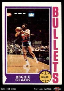 1974 Topps #172 Archie Clark Bullets (Wizards) VG