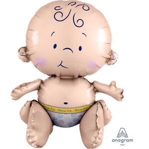 Sitting Baby Shaped Multi Unisex New Baby/Baby Shower SuperShape Foil Balloon
