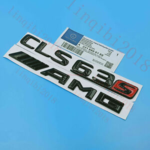 Gloss Black CLS63s AMG Letters Trunk Embl Badge Sticker for Mercedes Benz CLS