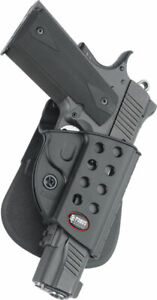 Fobus Evolution Series Springfield Paddle Holster wRails Black Right R1911