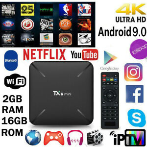 TX6 Smart Mini TV Box Android 9.0 Quad Core WiFi HD 2GB + 16GB 4K Media Player