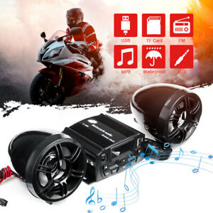 Motorcycle Audio Stereo Sound System Amplifier Speaker FM USB MP3 Player Radio