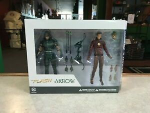 2016 DC Direct TV Show The FLASH & The ARROW 2 Pack Figure Set NIB