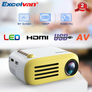 Excelvan YG200 1080P Mini LED Projector Multimedia Home Theater TF AV USB HDMI