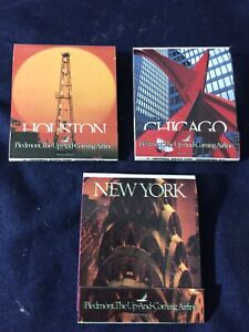 NEW LOT OF 3 MATCHBOOKS PIEDMONT AIRLINES NEW YORK CHICAGO HOUSTON UP AND COMING