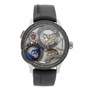 Greubel Forsey GMT Earth Inclined Tourbillon White Manual Mens Watch 92001946