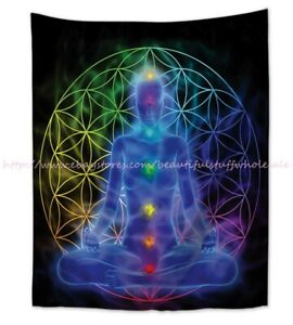 chakras meditation wall hanging tapestry dorm room wall art
