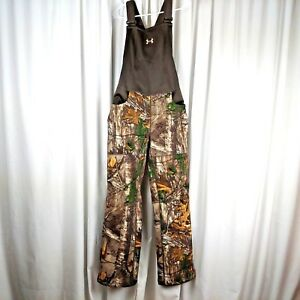 Under Armour Womens Camo Stealth Hunting Scent Control Bib Overalls 947 X-Large