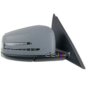 NEW Gray Right Electric Side Mirror w LED 15P For Mercedes Benz W204 4Dr 11 14 $219.00
