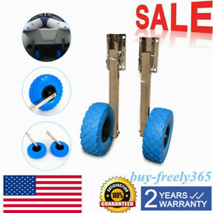 Boat dolly transom launching wheels for inflatable and aluminum boats