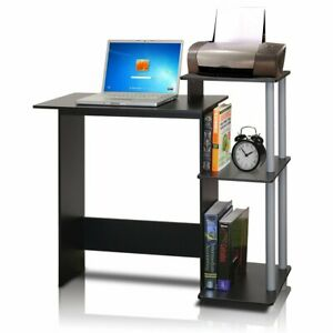 Computer Desk Black Table Small Home Office Laptop Compact Printer Furniture