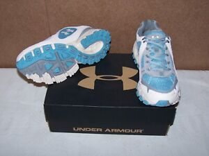 Under Armour Chetco II Womens NEW Size 6 WhiteTeal 1227578-135 Running Shoes