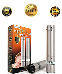 Electric Salt and Pepper Mill Set Grinder, Battery Operated!