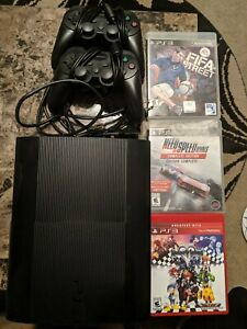 Clean Sony PlayStation PS3 CECH-4301A console system slim games and controllers