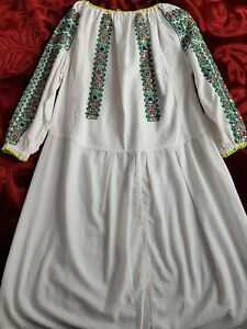 Stunning Sequins Vintage Romanian traditional dress GBP 140.00