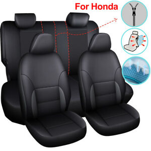 Leather Car Seat Cover Universal Accessories Fit for Honda Accord Civic CRV Hrv