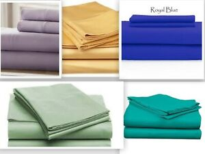 Persian 1800 Collection Set of Two Pillow Cases - Five colors Queen / King Soft