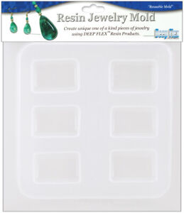 Resin Jewelry Reusable Plastic Rectangle Mold 6.5 X 7 Inches $13.93