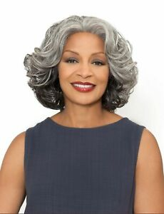 Foxy Silver Synthetic Hair Lace Front Wig Esther Grey Colors $45.99