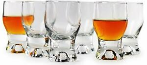 Circleware 42781 Tipsy Shot Set of 6 Heavy Base Glassware Drinking Glass Cups...