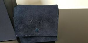 Chopard Watch/Jewellery Box Blue Suede Travel Case with Chopard Gift Bag.