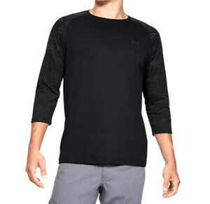 Under Armour UA Utility Black Blackout Camo Raglan Half Long Sleeve T Shirt $22.00