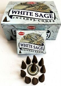 White Sage Incense Cones by Hem - Pick 10-20-30-50-100-120 Free Shipping!