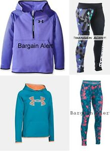 UNDER ARMOUR GIRLS MEDIUM ~ LEGGINGS ~ HOODIE SWEATSHIRTS ~BRAND NEW $195