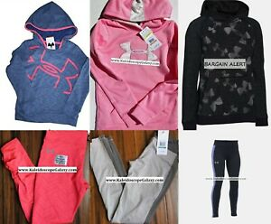 SMALL UNDER ARMOUR ~ 6pc HOODIE SWEATSHIRT ~ LEGGINGS ~ PINK GRAY ~ NWT $290