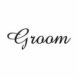 Groom - Cute Font - Vinyl Decal Sticker - Multiple Colors & Sizes - ebn3168