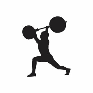 Weight Lifting Exercise Decal Sticker Multiple Color amp; Sizes ebn739