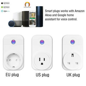 Smart WIFI Plug Socket Wireless Outlet Timer Remote Voice Control Hot