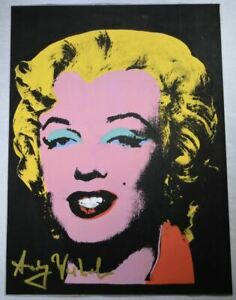 "Andy Warhol Beautiful Hand Signed Print of ""Marilyn Monroe"" with a COA."