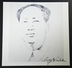 """Andy Warhol Great Signed Print """"Mao II"""" (sketch) 1986.  Hand signed"""