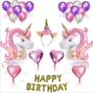 Unicorn Balloons Birthday Party Supplies for Kids Birthday Decorations 38 pieces
