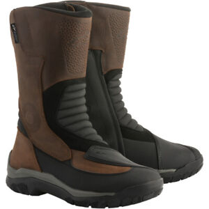 Alpinestars CAMPECHE Drystar Oiled Leather Riding Boots Brown Black 7 $259.95