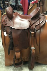 "Tex Tan Hereford 17"" Roping Saddle Slick Seat Pre-Owned – Very Good Condition"