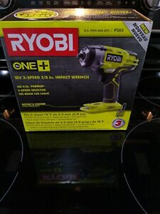 Ryobi P263 18-Volt ONE+ Cordless 38 in. 3-Speed Impact Wrench w LED *SEALED*