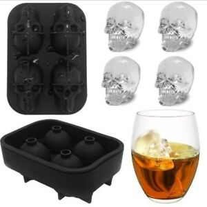 Skull Ice Mold Silicone Whiskey Ice Cube Tray Maker Cream Molds Form Party Bar
