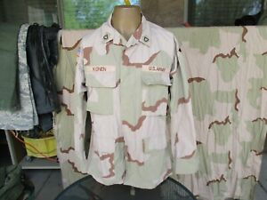 4th Infantry Division DCU OIF Iraq Desert Combat Shirt with Patches, Named